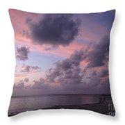 Seven Mile Beach Sunset Throw Pillow
