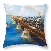 Seven Mile Bridge Throw Pillow
