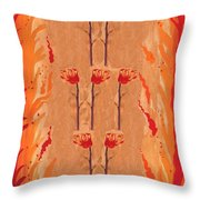 Seven Of Wands Throw Pillow