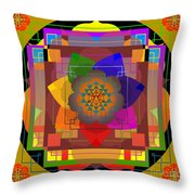 Seven Rays Of Healing 2013 Throw Pillow