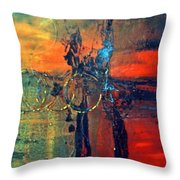 Seven Rings Throw Pillow