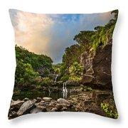 Seven Sacred Paradise Throw Pillow