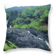 Seven Sacred Pools Haleakala National Park Maui Hawaii Throw Pillow