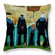 Seven Sailors Throw Pillow