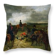 Seventeenth June Eighteen Fifteen At Seven Oclock Throw Pillow