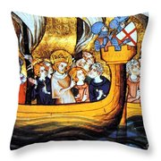 Seventh Crusade 13th Century Throw Pillow