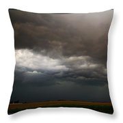 Severe Storms Over South Central Nebraska Throw Pillow