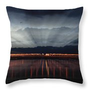 Severn Bridge Throw Pillow