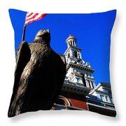 Sevierville Tenn Courthouse Eagleagle Throw Pillow