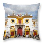 Seville Bullring In Spain Throw Pillow