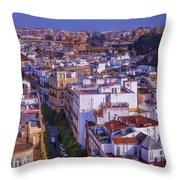 Seville Cityscape Throw Pillow