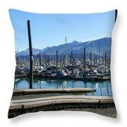 Seward Alaska Bay Throw Pillow