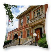 Sewickley Municipal Hall Throw Pillow