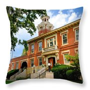 Sewickley Pennsylvania Municipal Hall Throw Pillow