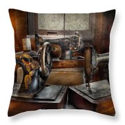 Sewing - A Chorus Of Three Throw Pillow by Mike Savad