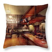 Sewing - Industrial - Tailored Made Clothing  Throw Pillow by Mike Savad