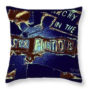 Sex Pistols - Anarchy In The Uk Throw Pillow