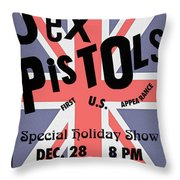 Sex Pistols First Us Appearance Throw Pillow