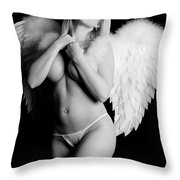 Sexy Angel  Throw Pillow