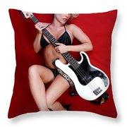Sexy Guitar Throw Pillow