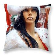 Sexy Santa Throw Pillow