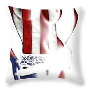 Sexy Stars And Stripes Throw Pillow