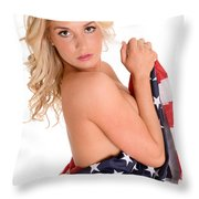 Sexy Usa Throw Pillow by Jt PhotoDesign