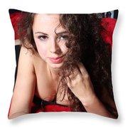 Sexy Woman Throw Pillow