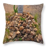 Seymour Dye Killed By Indians Throw Pillow