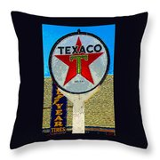 The Big Red Star Throw Pillow