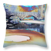 Sgt Peppers Lonely Hearts Club Bridge Throw Pillow
