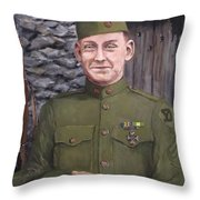 Sgt Sam Avery Throw Pillow