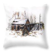 Shack Throw Pillow by Aaron Spong