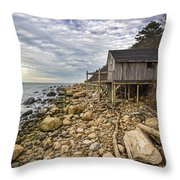 Shack On The Sound Throw Pillow