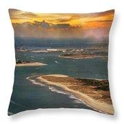 Shackleford Banks Fort Macon North Carolina Throw Pillow