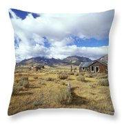 Shacks On 395 Throw Pillow