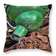 Shade And Chain Throw Pillow