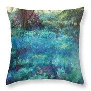 Shade Garden Throw Pillow