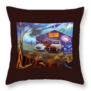 Shade Tree Hot Rods Throw Pillow