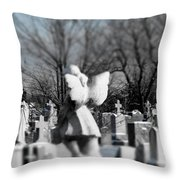 Shades Of A Gothic Winter Throw Pillow
