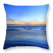 Rocks In Surf Carlsbad Throw Pillow