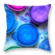 Shades Of Blue Watercolor Throw Pillow