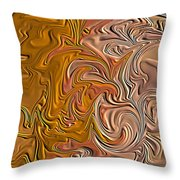 Shades Of Brown Throw Pillow