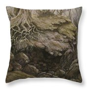 Shades Of Froud Throw Pillow