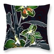 Shades Of Green And Gray Throw Pillow