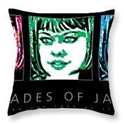 Shades Of Jade Poster Throw Pillow