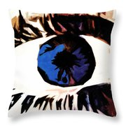 Shades Of Mary Throw Pillow