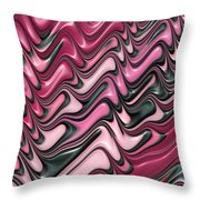 Shades Of Pink And Red Decorative Design Throw Pillow by Matthias Hauser