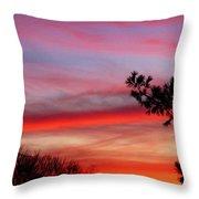 Shades Of Sunset Throw Pillow