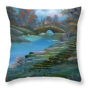 Shades Of The Orient. Throw Pillow
